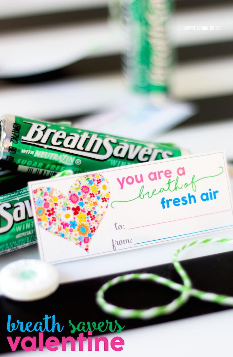 Breath Savers Valentine - You are a BREATH of fresh air! DIY Valentine idea.