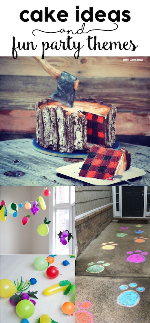 Cake Ideas and Fun Party Themes - Lumber Jack Cake, Easy Paw Patrol Party ideas, Peppa Pig party ideas, and more!
