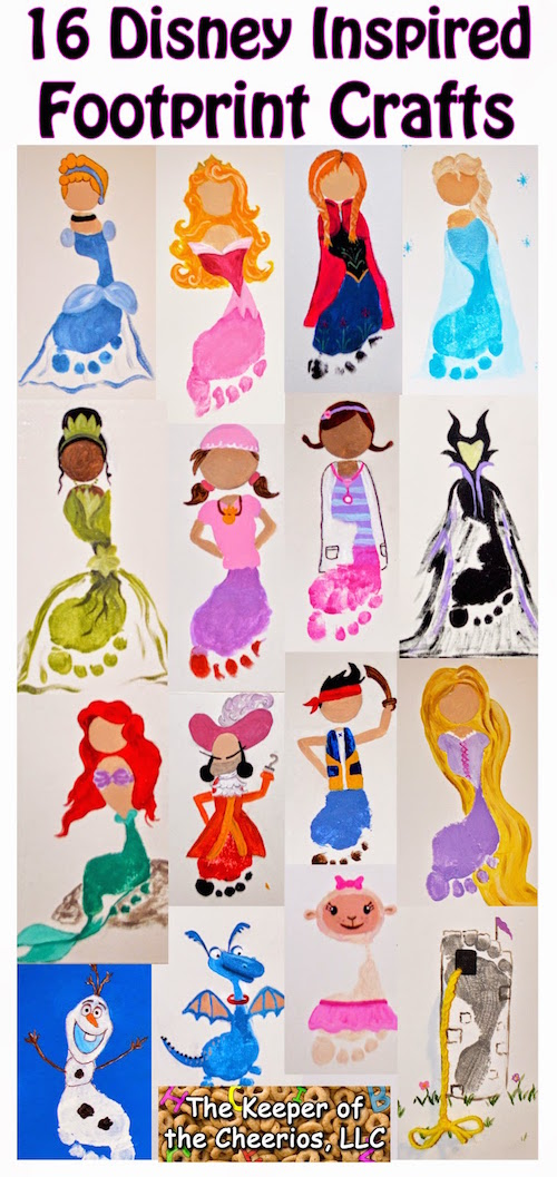 Disney Footprint Art ideas - so cute!