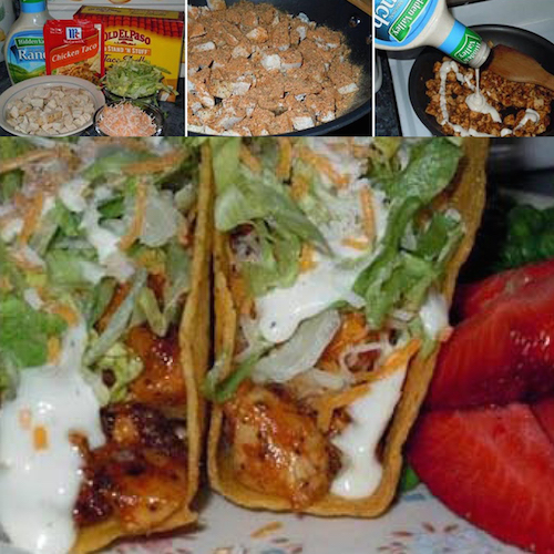 Chicken ranch tacos are delicious! Here is the easiest chicken ranch taco recipe ever!