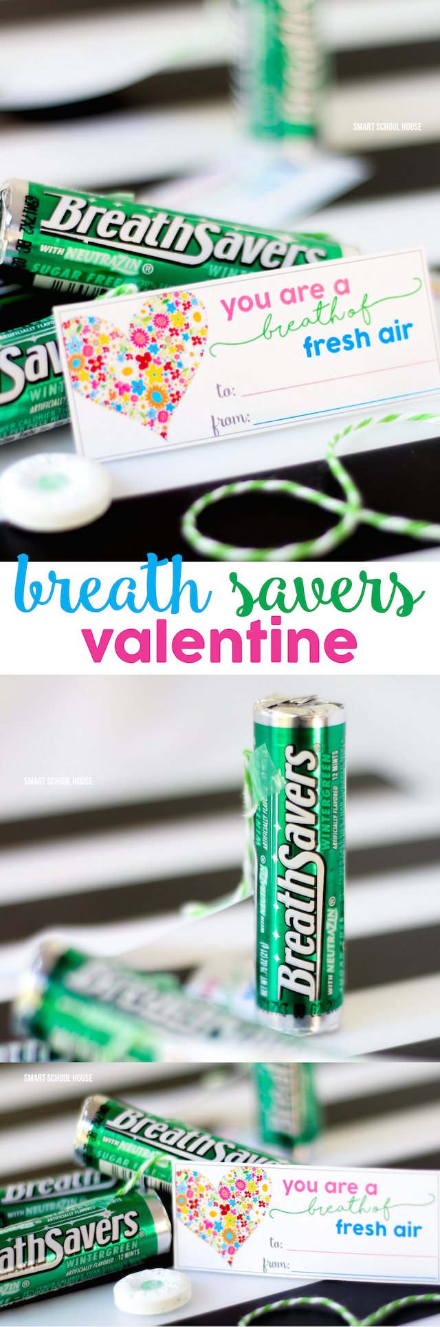 Breath Savers Valentine - You are a BREATH of fresh air! DIY Valentine idea.