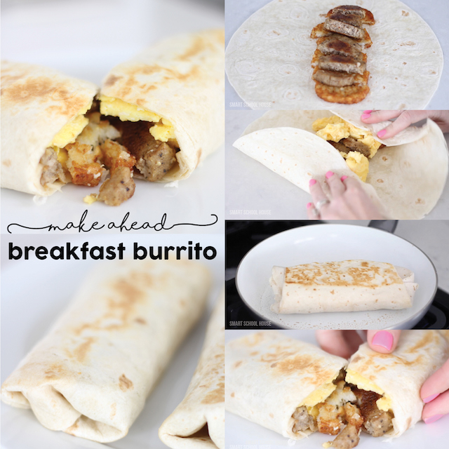 Make Ahead Sausage Hash Brown Breakfast Burrito - this recipe is a family favorite!