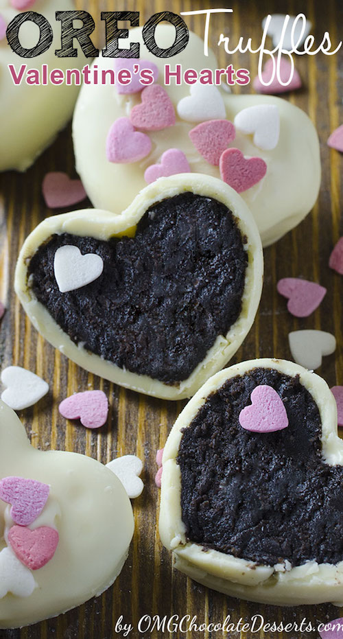 Oreo Truffle Hearts! I can't believe how easy these are to make.