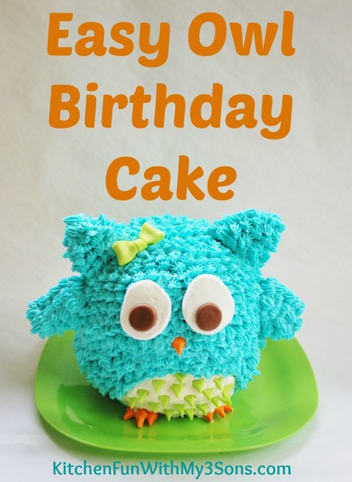 This cute little owl cake would be a hit at any party! Best of all, it's easy to make.
