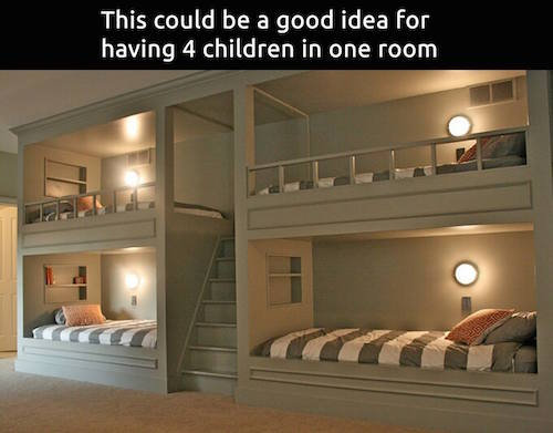 A Built In Bunk Bed For 4 This Works For Sleepovers Too