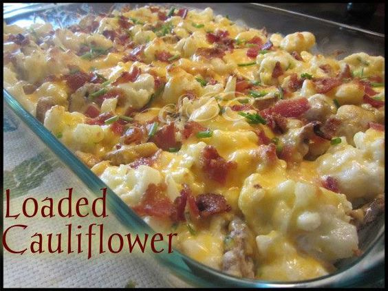 I just died and went to cauliflower heaven. Loaded Cauliflower
