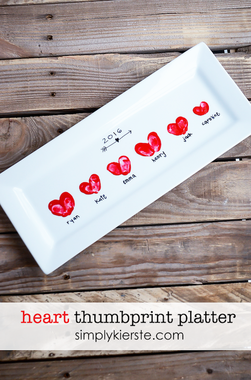 Heart Thumbprint Platter - so easy and a great gift idea!