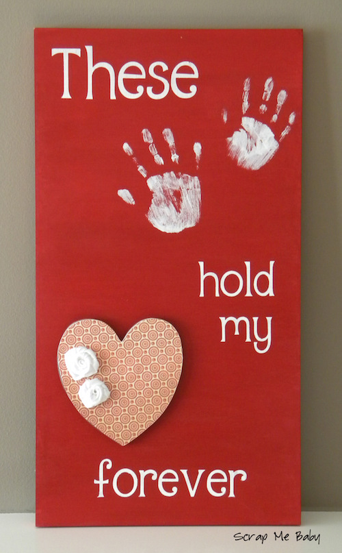 These Hands Hold My Heart Forever - this is a neat teacher gift or parent gift idea!