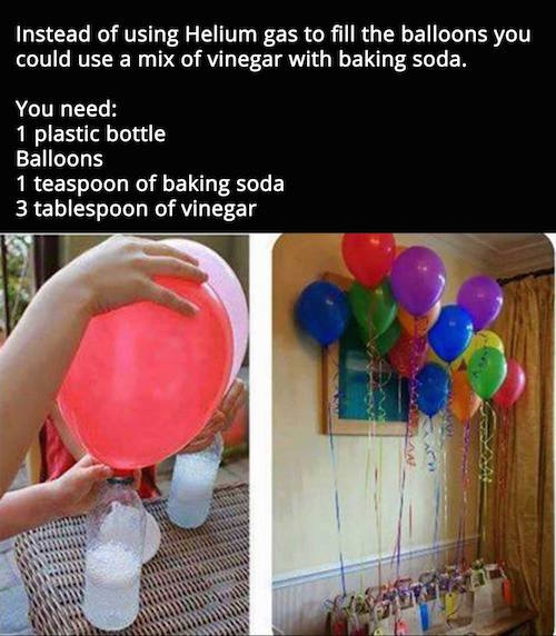 Helium is really expensive! I don't think that they would float the same way as a helium filled ballon, but it sure would be a fun DIY project to try!