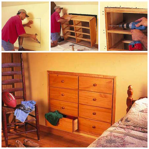 This is such a great idea! Think of all the space it creates by being installed in the wall like that!