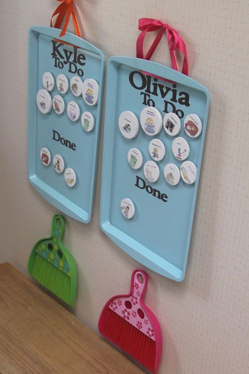 Make a cute and functional chore chart or your kids!