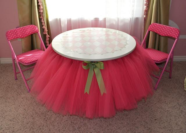 How to make a tutu table