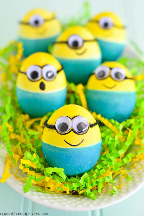 Minion Easter Eggs - how cute!