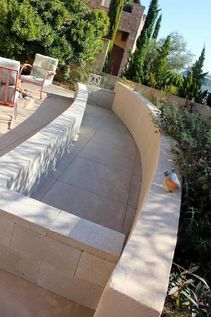Raised concrete garden