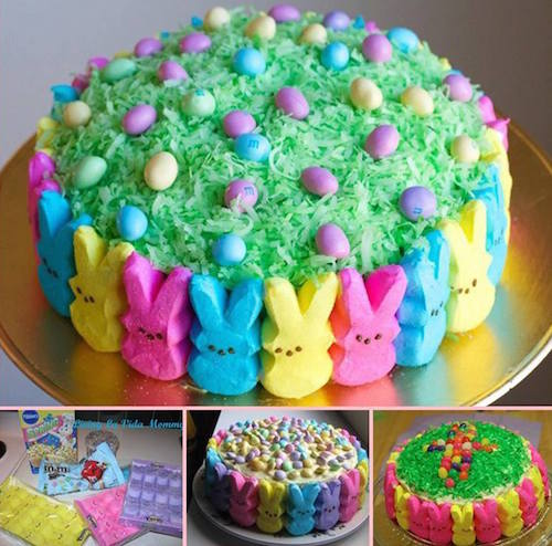 How to make a PEEPS cake! Must try - Click the picture to watch how she makes it.