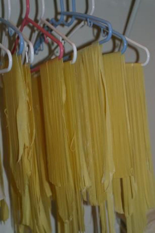 HOMEMADE NOODLES - now this is a smart idea!