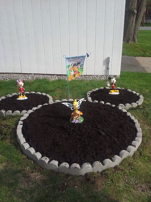 Make a Disney inspired garden. So cute!