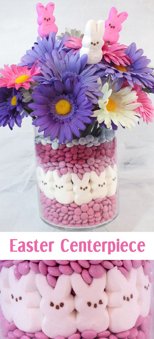 Easy PEEPS centerpiece idea for Easter. I love this so much!