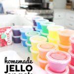 Homemade Jello Snack Cups