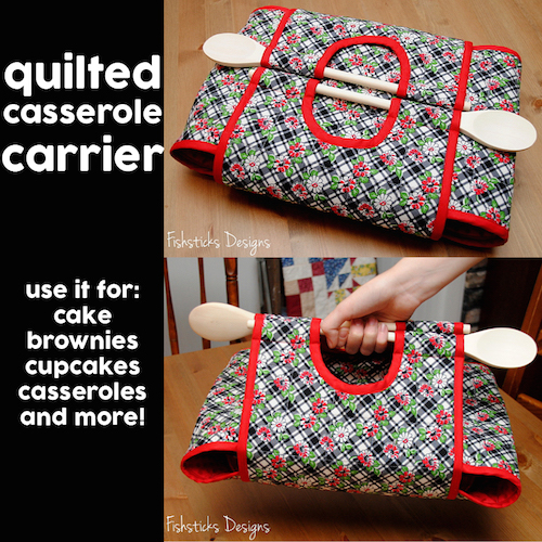 Like to sew? Like to cook? This is the perfect DIY project for you to try! A quilted casserole carrier. Click the picture for full directions on how to make one.