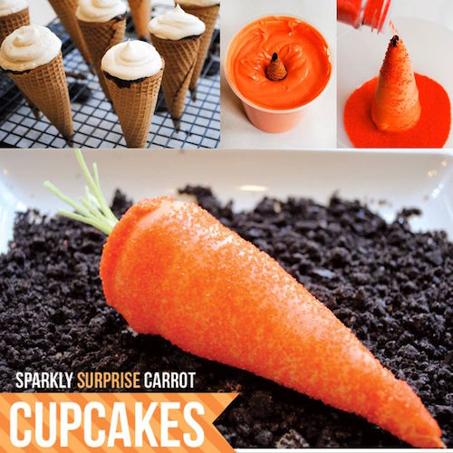 How to make carrot cupcakes. This is so neat!