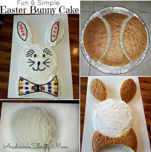 Here's an even easier bunny cake idea - so simple and cute!
