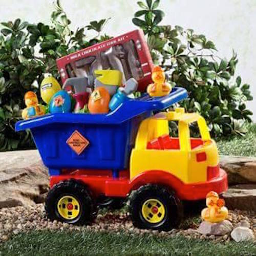 Neat easter ideas page 14 of 29 smart school house toddler easter basket idea take a toy dump truck and fill it with toys negle Images