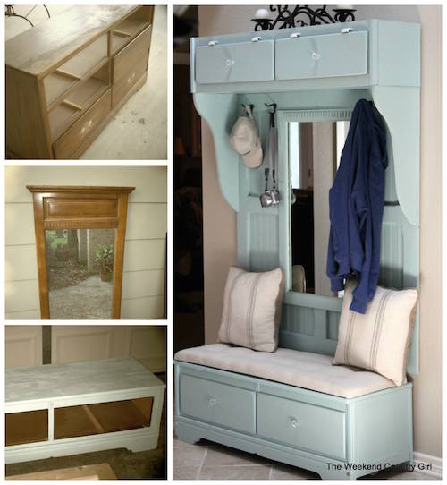 Can you believe this is made from an old dresser?