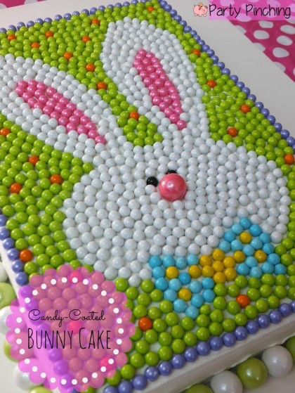 Sixlet candy Easter cake - WOW! This is really unique and really cute!