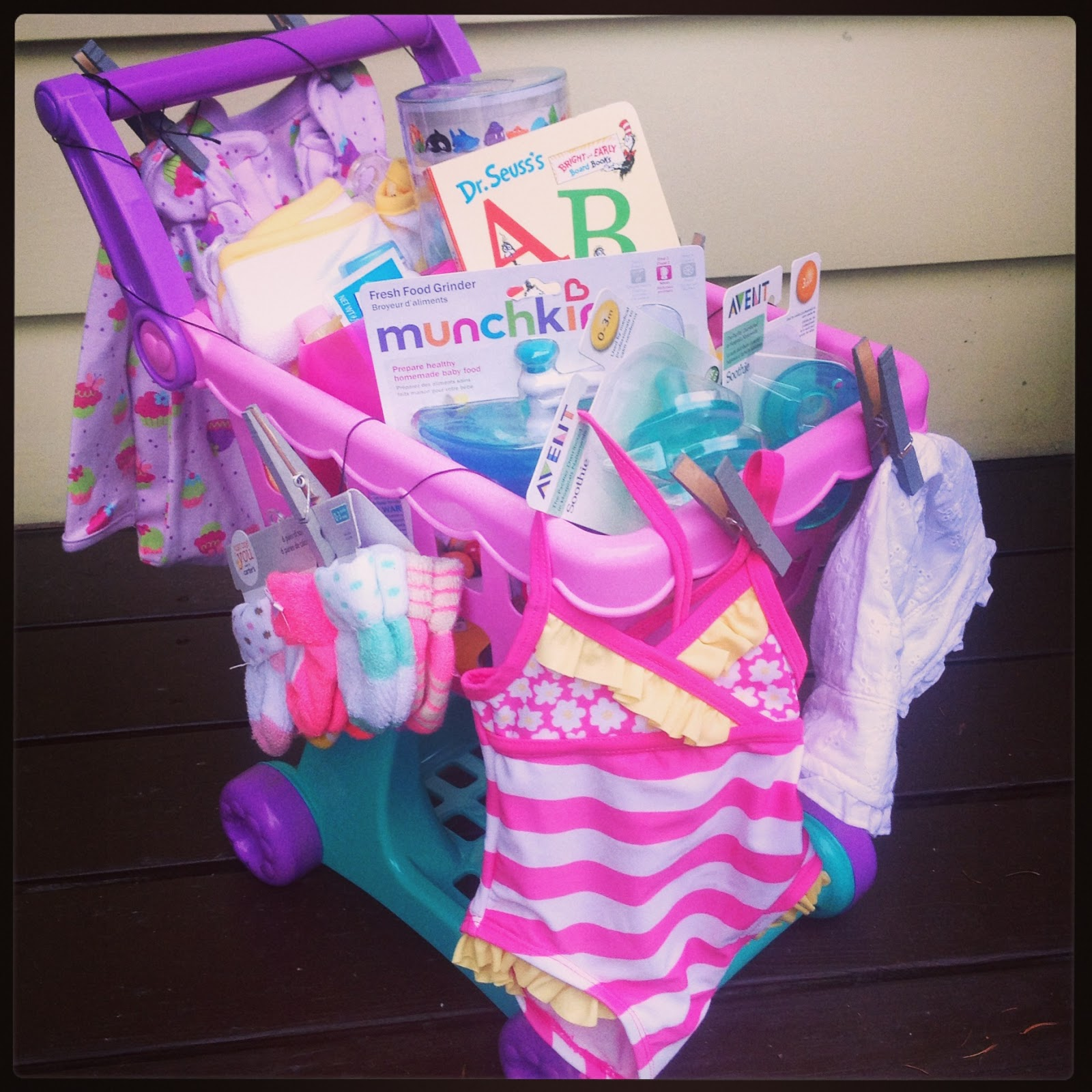 Shopping Easter Basket - Filled with sippy cups and everything your little one will need this spring and summer.