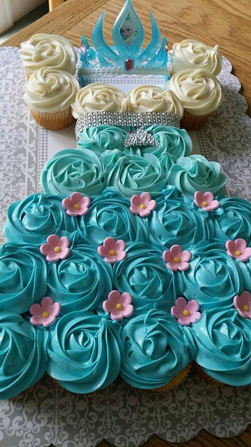 Here's another neat cupcake idea (see the previous slide). Use cupcakes to create the look of a full cake. No cutting necessary and it's much easier to do. Smart!