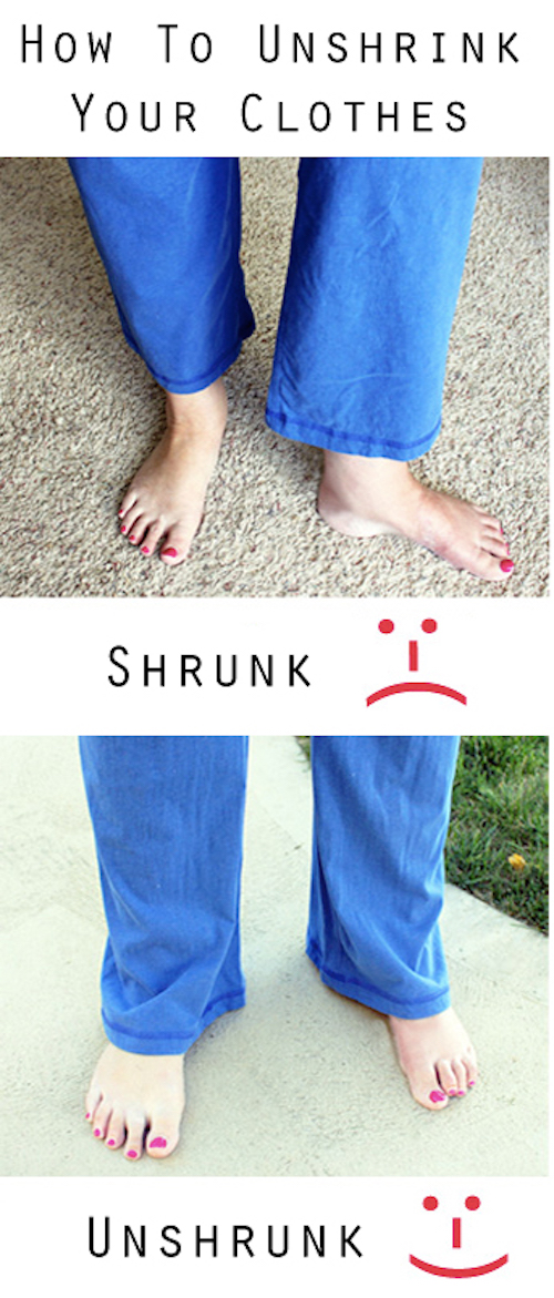 How to un-shrink clothes. I wish I would have known this sooner....