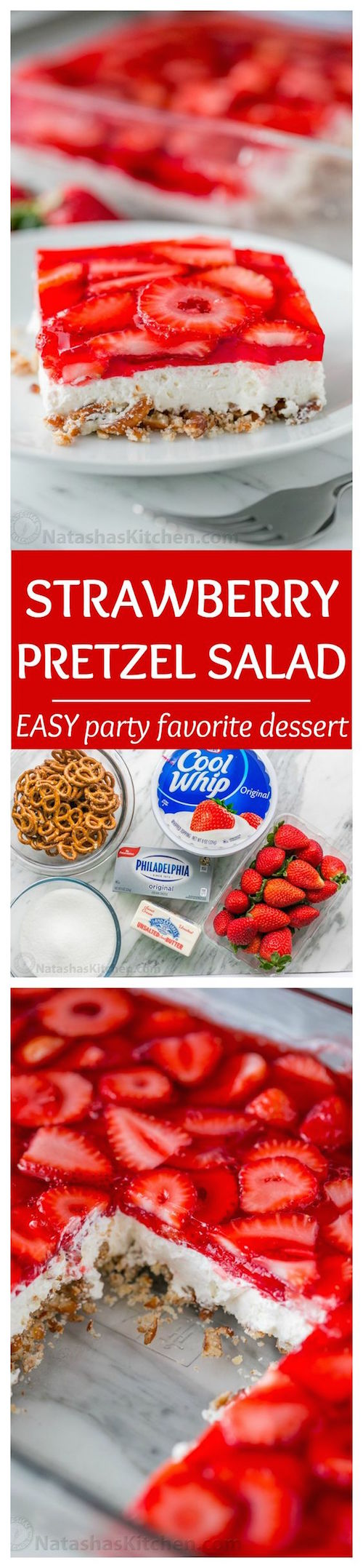 How to make strawberry pretzel bars - so easy!!