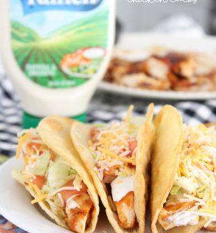 BBQ Ranch Chicken Tacos