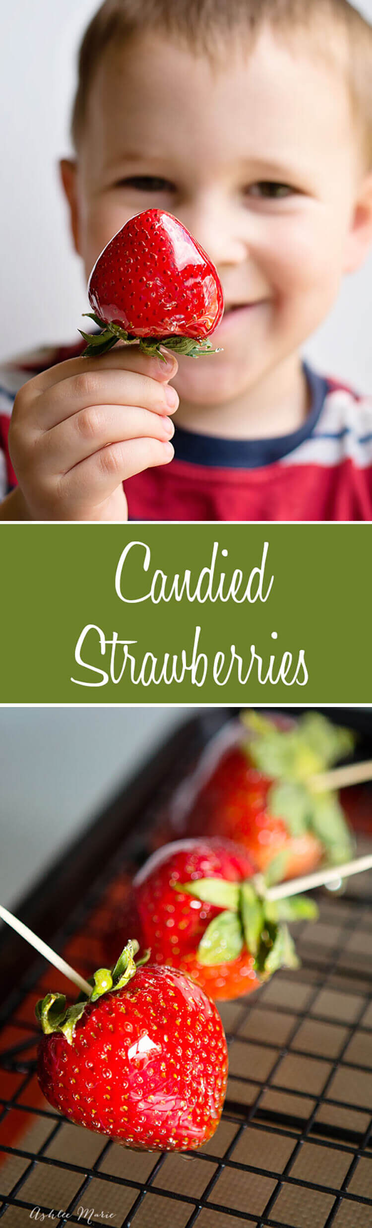 Have you ever heard of such a thing? It's like a candied apple, but with strawberries!