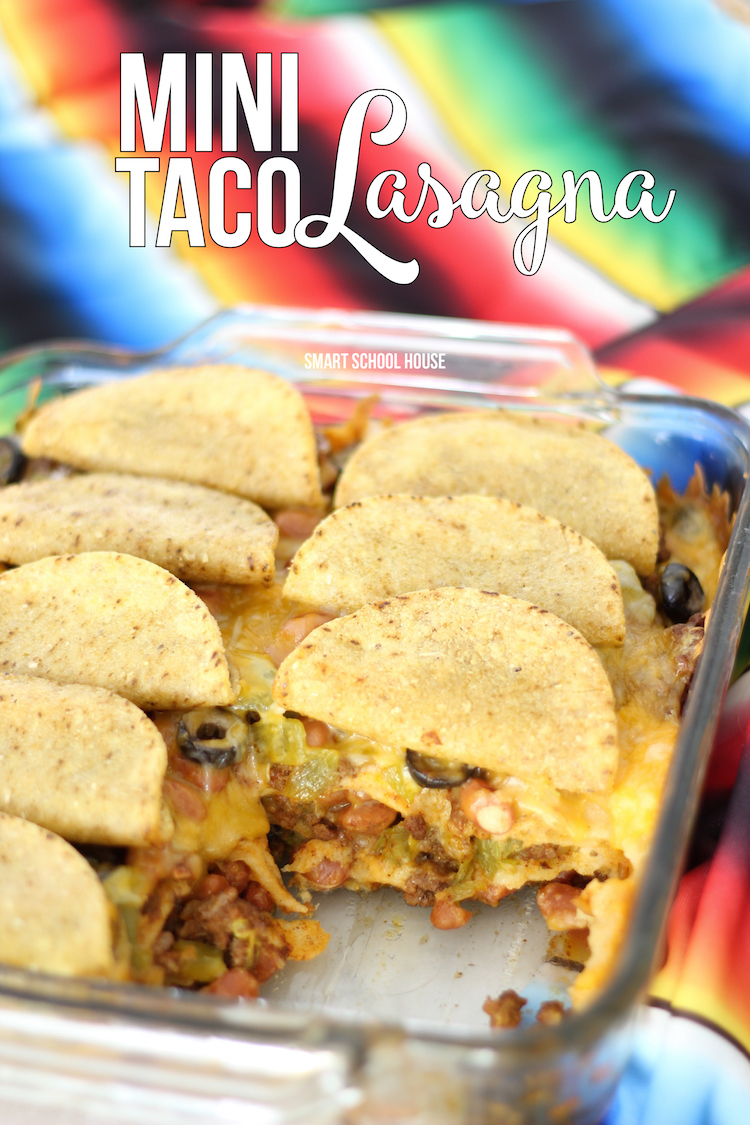 Mini Taco Lasagna - easy Mexican dinner recipe idea (or appetizer for Cinco de Mayo!).
