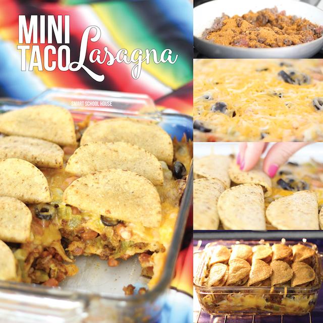 Mini Taco Lasagna - easy Mexican dinner recipe idea (or appetizer for Cinco de Mayo!).