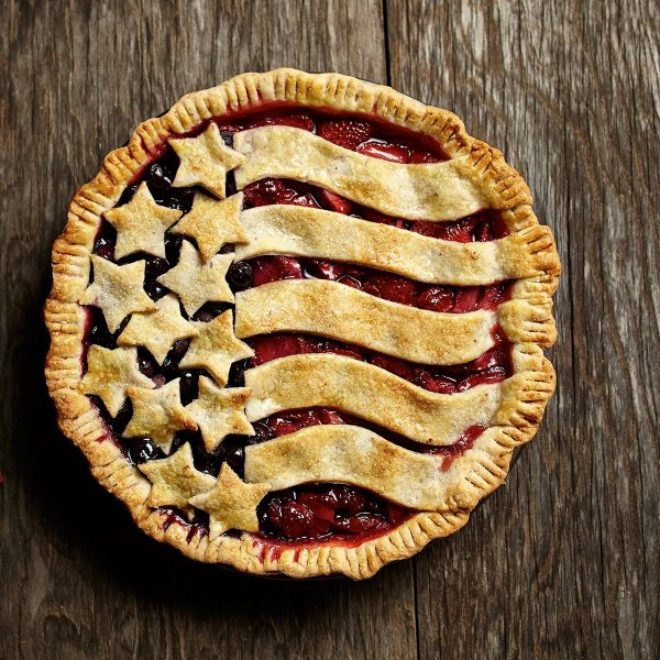 Red, white, and blue looks so good on this fresh berry pie – complete with a buttery, flaky patriotic crust. Perfect for any July 4th celebration!