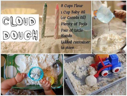How to make cloud dough - we love this stuff!
