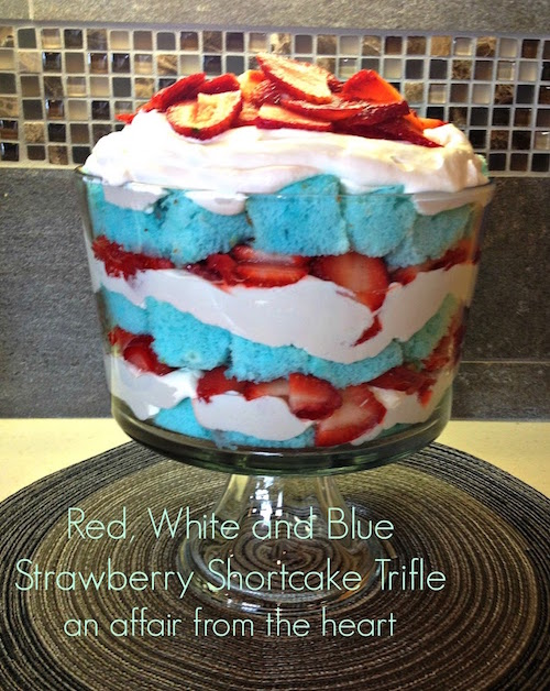 Red, White and Blue Strawberry Shortcake Trifle - this looks easy and fun to make! I bet it's delicious too...