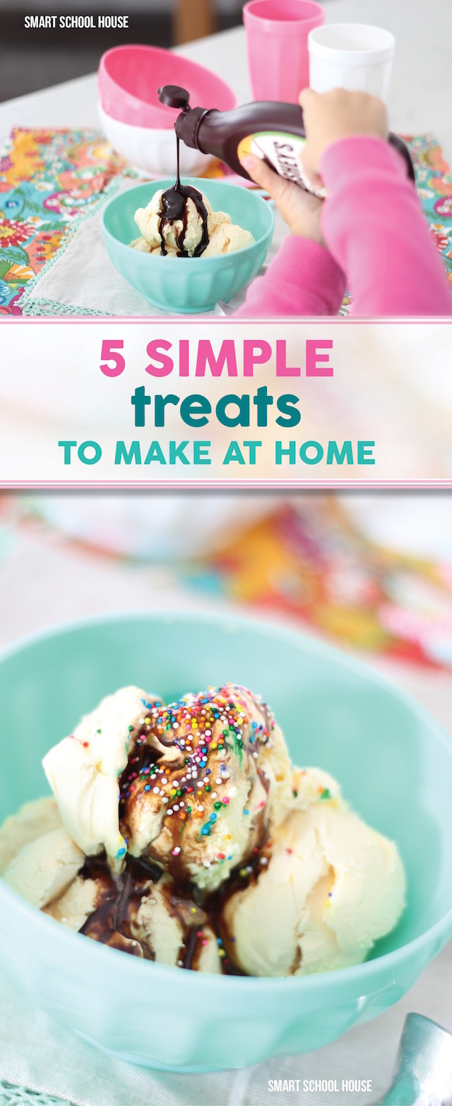 5 simple treats to make at home - easy dessert ideas. Saving this!