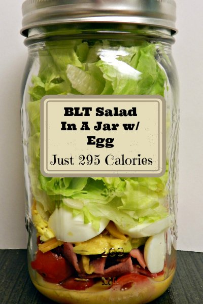BLT Salad in a jar with only 295 Calories!