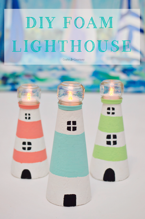 How to make a foam lighthouse - great idea and so easy!