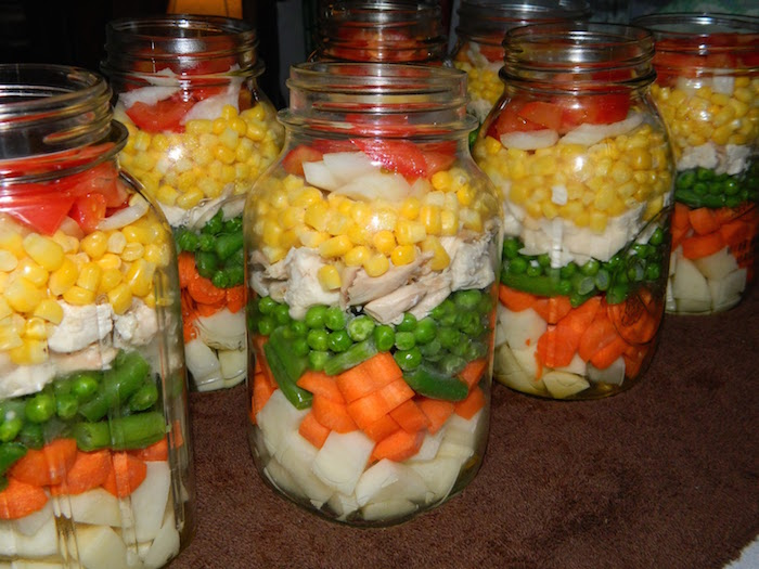 Canning soup! So handy to have on hand.