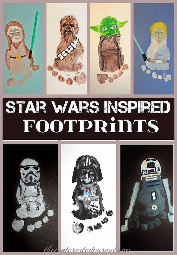 Star Wars Inspired Footprints! Adorable Keepsakes made out of kid's feet.