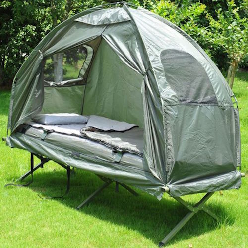 A raised tent is a great idea for an outdoorsy dad. It's got more cushion and more comfort than that old tent he's had in the garage for years.