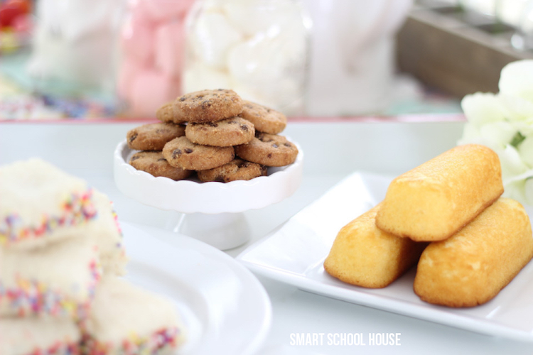 tea party Twinkies and cookies