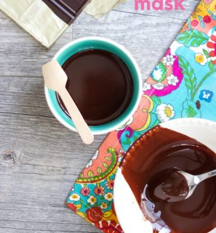 DIY Argan Oil Chocolate Mask - instant smoothing and nourishing results!