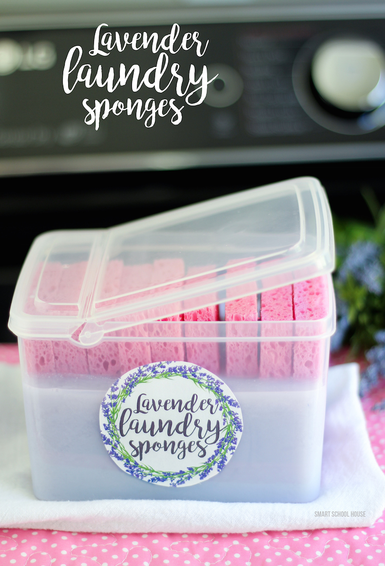 DIY Lavender Laundry Sponges