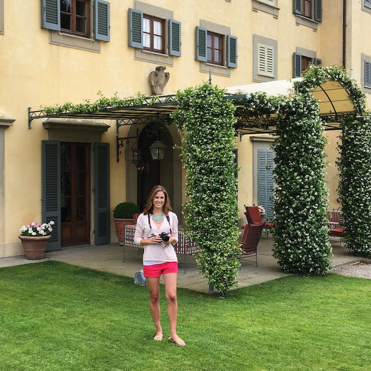 Taking pictures in Tuscany
